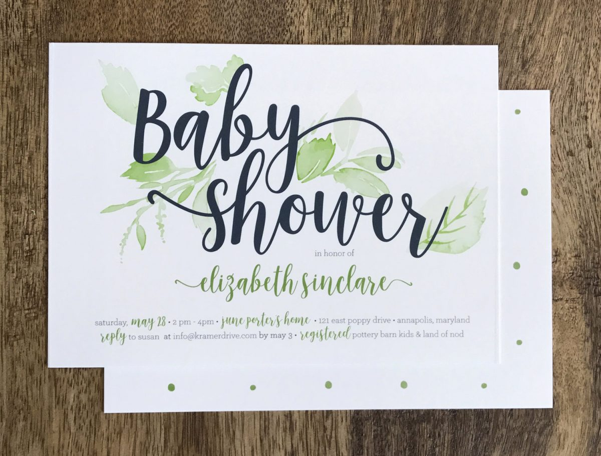 Baby Shower Invitations and New Baby Announcements in Houston, TX